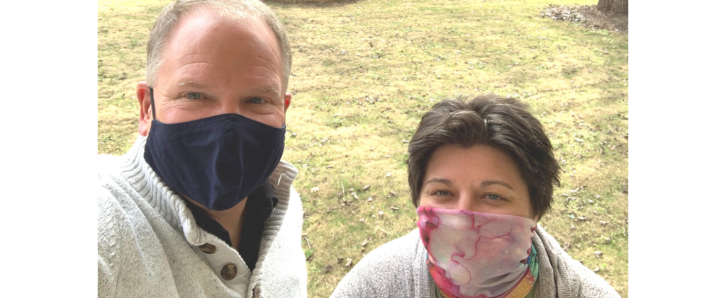 Selfie image of Dr. Gott and Lacey Shull while wearing masks.